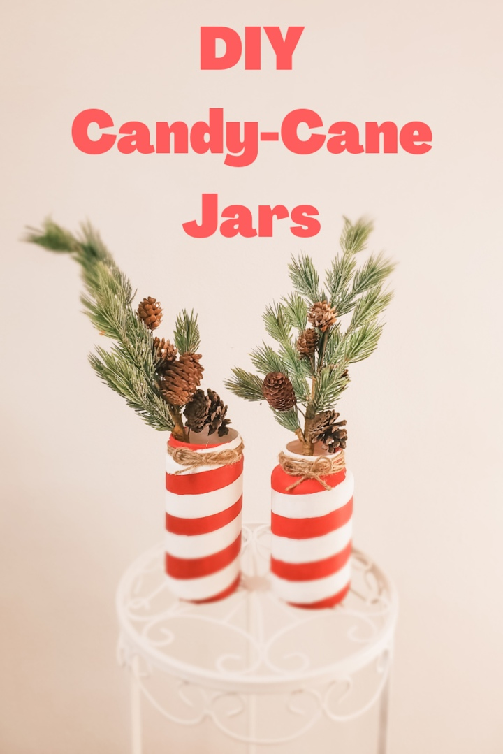 DIY Candy-Cane Jars